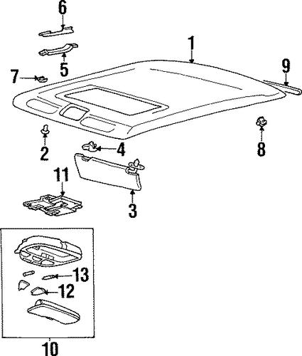 Tiburon Body Interior Trim Roof Parts Tiburon 2000 Hyundai