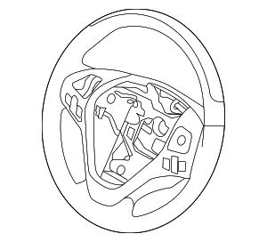 2013-2015 Lincoln MKX Steering Wheel DA1Z-3600-EB