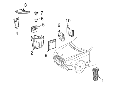 Diagram Of Fuse Box 2001 Mercedes Clk