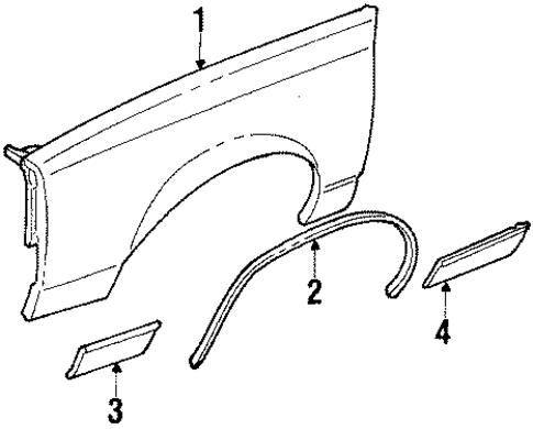 fender for 1986 oldsmobile cutlass supreme  base