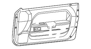 2012 Dodge Challenger Door Trim Panel 1MT251DVAG