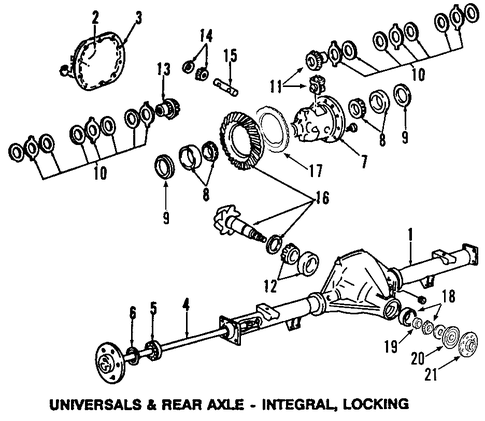 ford 9 75 differential diagram