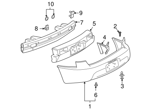 Viewtopic additionally T11131555 Diagram front steering suspension ford together with Gs additionally Chevrolet also Bumper And  ponents Rear Scat. on 2003 buick regal rear bumper