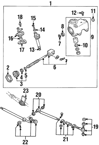 steering gear  u0026 linkage for 1996 ford e