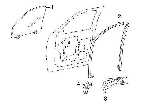 Window regulator for 2003 ford f 150 1l3z 1623209 aa for 1997 f150 window motor