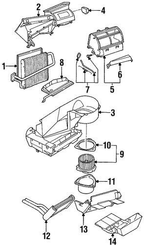 blower motor  u0026 fan 1997 saturn sl2 oem  u2013 new gm parts