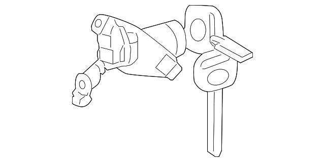 lock cylinder for 2009 pontiac vibe