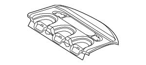 2003-2009 Mercedes-Benz E320 Pkg Tray Trim 211-690-21-49-7F77