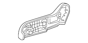 2013 Honda INSIGHT LX COVER, L. RECLINING (OUTER) *NH167L* (GRAPHITE BLACK) - (81638TF0G01ZA)