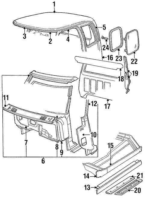 1998 ford f 150 exterior body diagram html