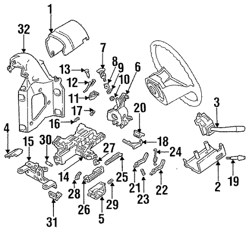 97 F150 Steering Column Diagram