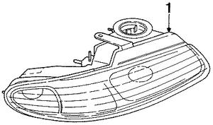 2000 Chrysler Grand Voyager Headlamp Assy 4857853AA