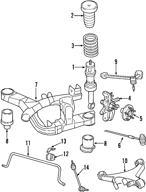 rear suspension for 2006 lincoln ls