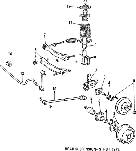 REAR SUSPENSION/REAR SUSPENSION for 1993 Toyota Camry #2