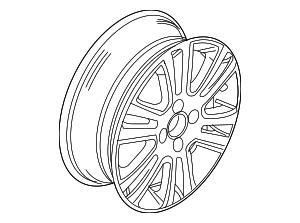 2008-2011 Ford Focus Wheel  Alloy AS4Z-1007-B