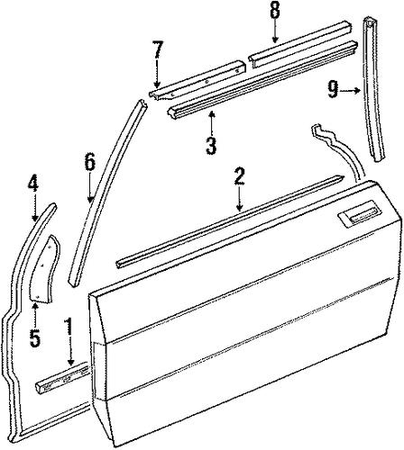 Side Molding For 1984 Mercedes Benz 380sl 107 720 02 80
