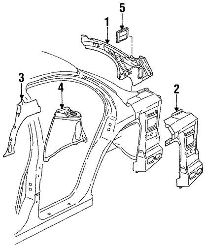 inner structure  u0026 rails for 1997 saturn sl2