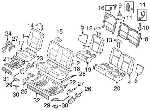 2015 Ford F-150 Cushion Cover FL3Z-1663805-DA
