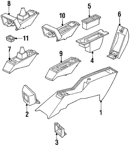 front console for 1992 pontiac grand prix  se
