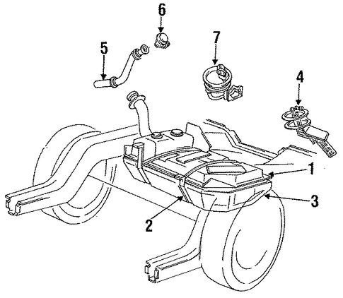 fuel system components for 1989 ford mustang