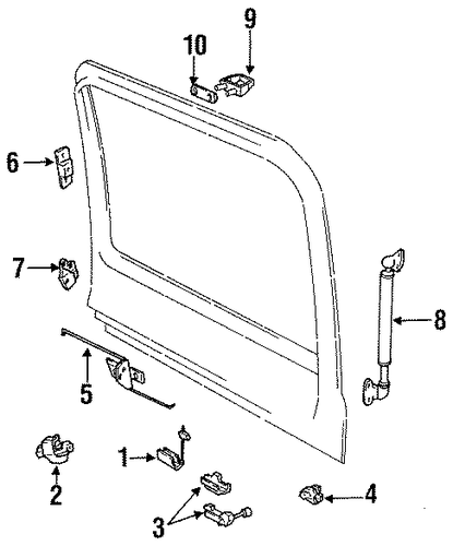genuine oem liftgate parts for 1994 toyota land cruiser
