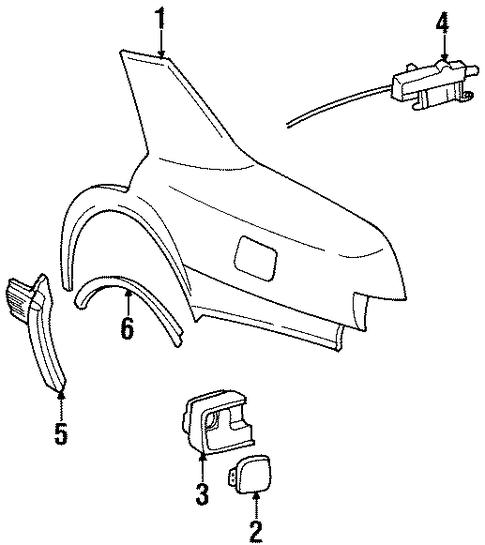 1996 Cadillac Seville Camshaft: QUARTER PANEL & COMPONENTS For 1996 Cadillac Seville (SLS