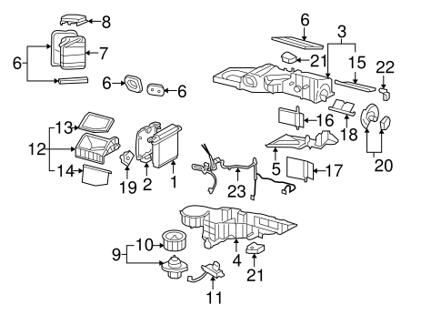 hvac  blower motor  u0026 fan for 2006 gmc yukon  1
