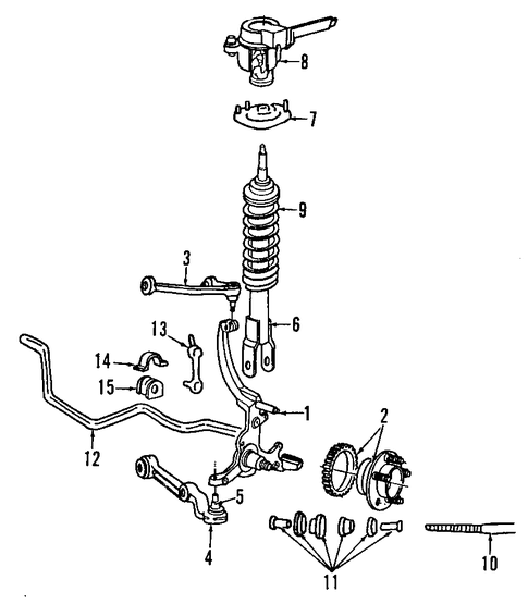 suspension components for 1997 mercury cougar