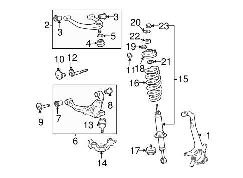 Location Of The Vvt Sensor Toyota Camry as well 04 Nissan Maxima additionally Toyota Shock Absorber 48530a9340 in addition RepairGuideContent together with Suspension  ponents Scat. on toyota tacoma off road package