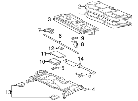 88994444 control module for 2005 cadillac srx