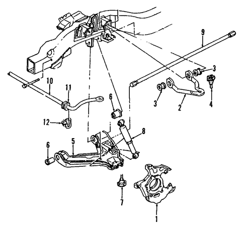 suspension components parts for 1994 gmc k3500 pickup