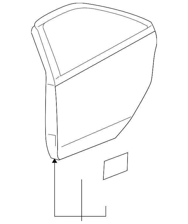 door shell for 2008 pontiac g6