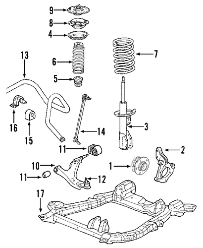 front suspension for 2005 chevrolet equinox  ls