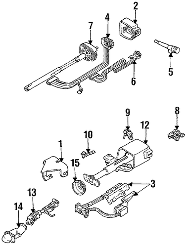 SHROUD, SWITCHES & LEVERS Parts for 1994 Chevrolet Lumina #2