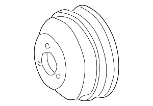 2000-2006 Mercedes-Benz CL500 Pulley 000-466-18-15