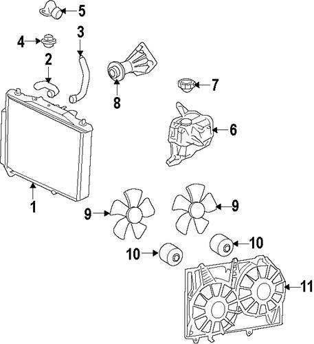 cooling system for 2009 pontiac g8