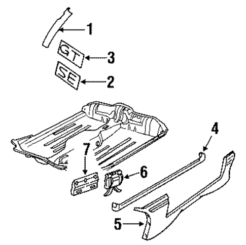 Rear Door Scat furthermore 89 Dodge Ram 50 Engine furthermore 2004 2007 nissan armada front door panel removal procedure together with XR828879 furthermore Exterior chrome trim. on exterior trim rear door
