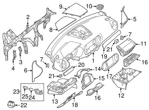 2013-2015 Mercedes-Benz SL550 Center Cover 231-680-19-36-9E38