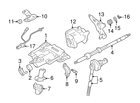 Genuine OEM    STEERING    COLUMN ASSEMBLY Parts for    2002       Toyota       Tundra    Limited  Olathe    Toyota    Parts