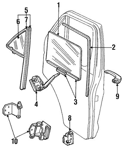 hardware for 1987 dodge b250