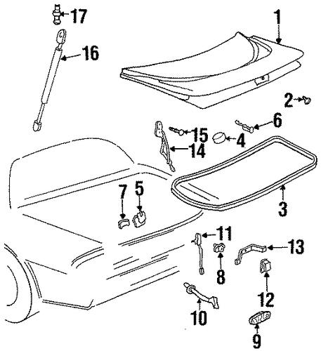 trunk for 2002 pontiac firebird
