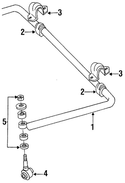 stabilizer bar  u0026 components for 1992 dodge d150