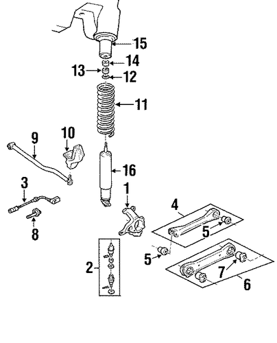 suspension components for 1997 jeep grand cherokee