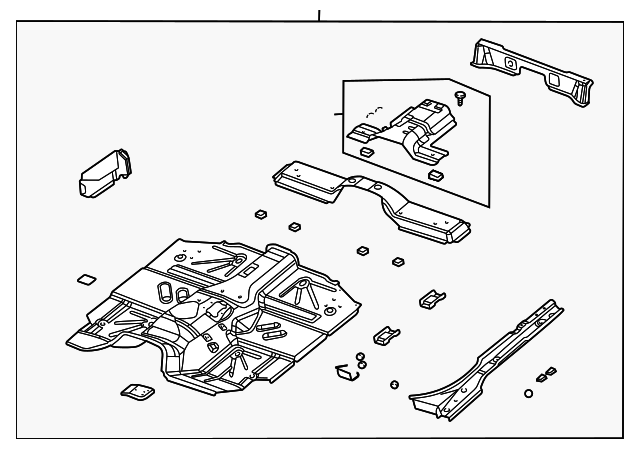 floor pan assy for 1999 jeep wrangler