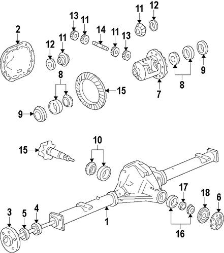 2004 ford f 150 5 4 rear axle diagram