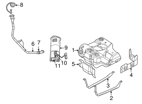 fuel system components for 2001 chrysler 300m