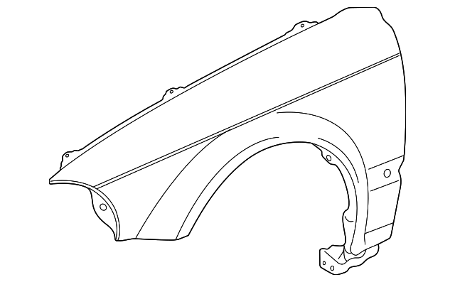 1997 Honda CIVIC SEDAN DX PANEL, R. FR. FENDER - (60211S04A00ZZ)