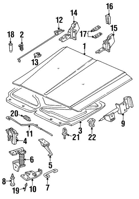 hood  u0026 components for 1998 jeep cherokee