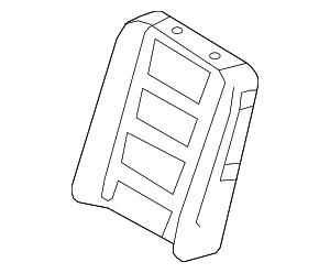 2009-2012 Ford Flex Seat Back Pad 8A8Z-7464810-D