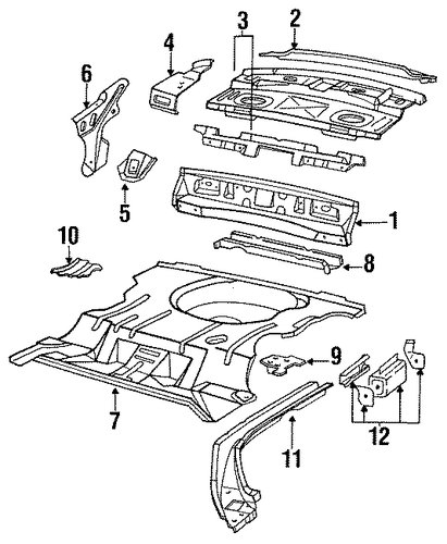 REAR BODY For 1992 Chevrolet Lumina (Euro